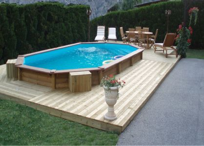 Piscine semi enterr e 33 for Piscine 33